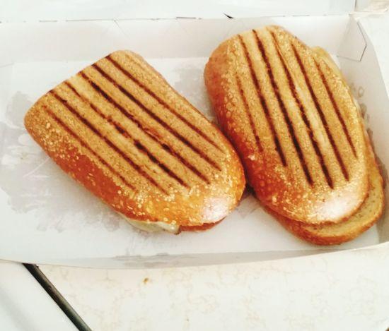 Steak and cheese panini Panera Bread  Panera