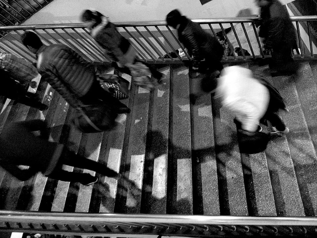 busy people Black & White People Busy City