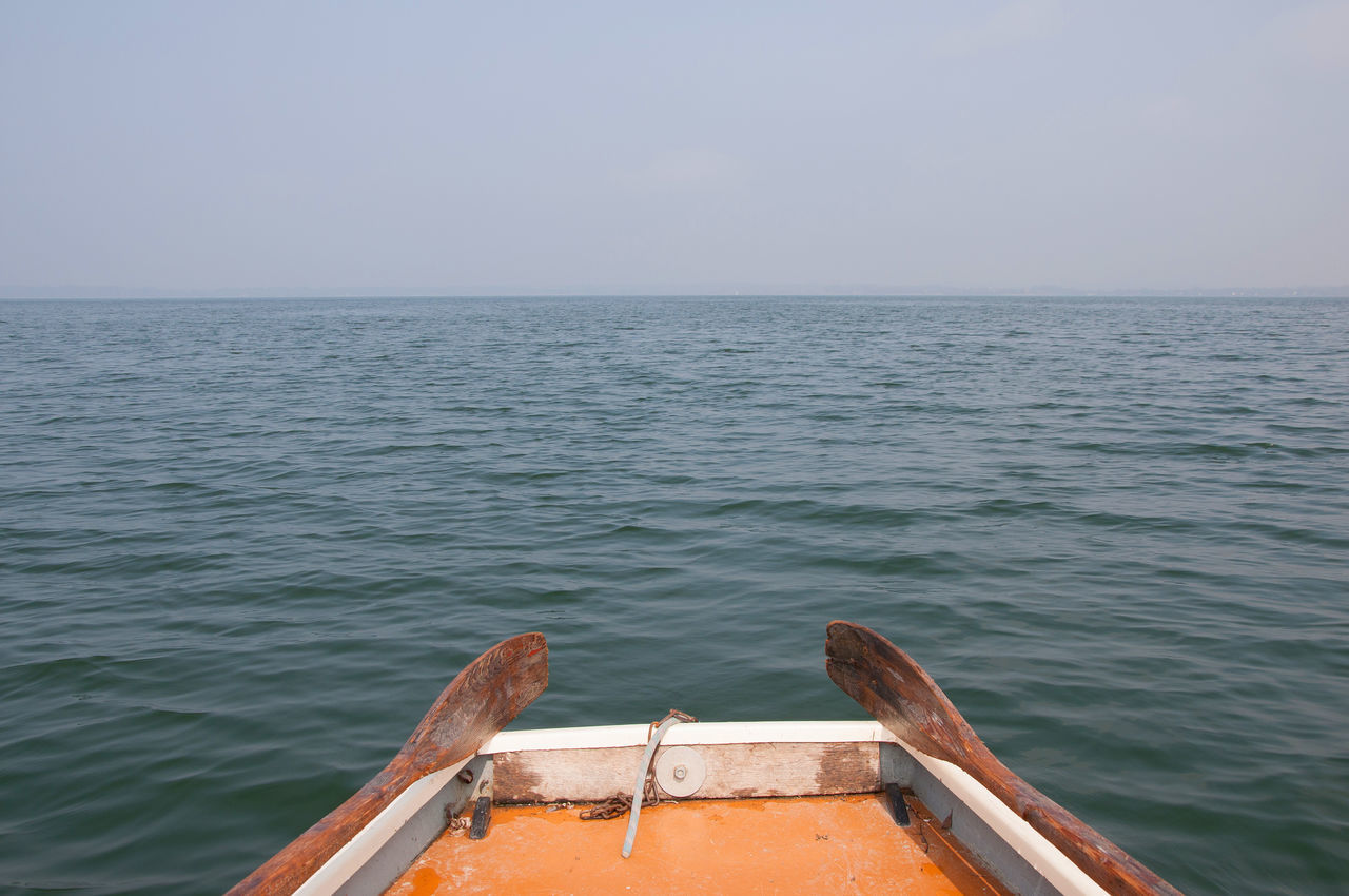 chiemsee boat 4 Boat Day Horizon Over Water Lake Lake View Nature Nautical Vessel No People Oars Outdoors Sea Silence Of Nature Sky Water Wood - Material