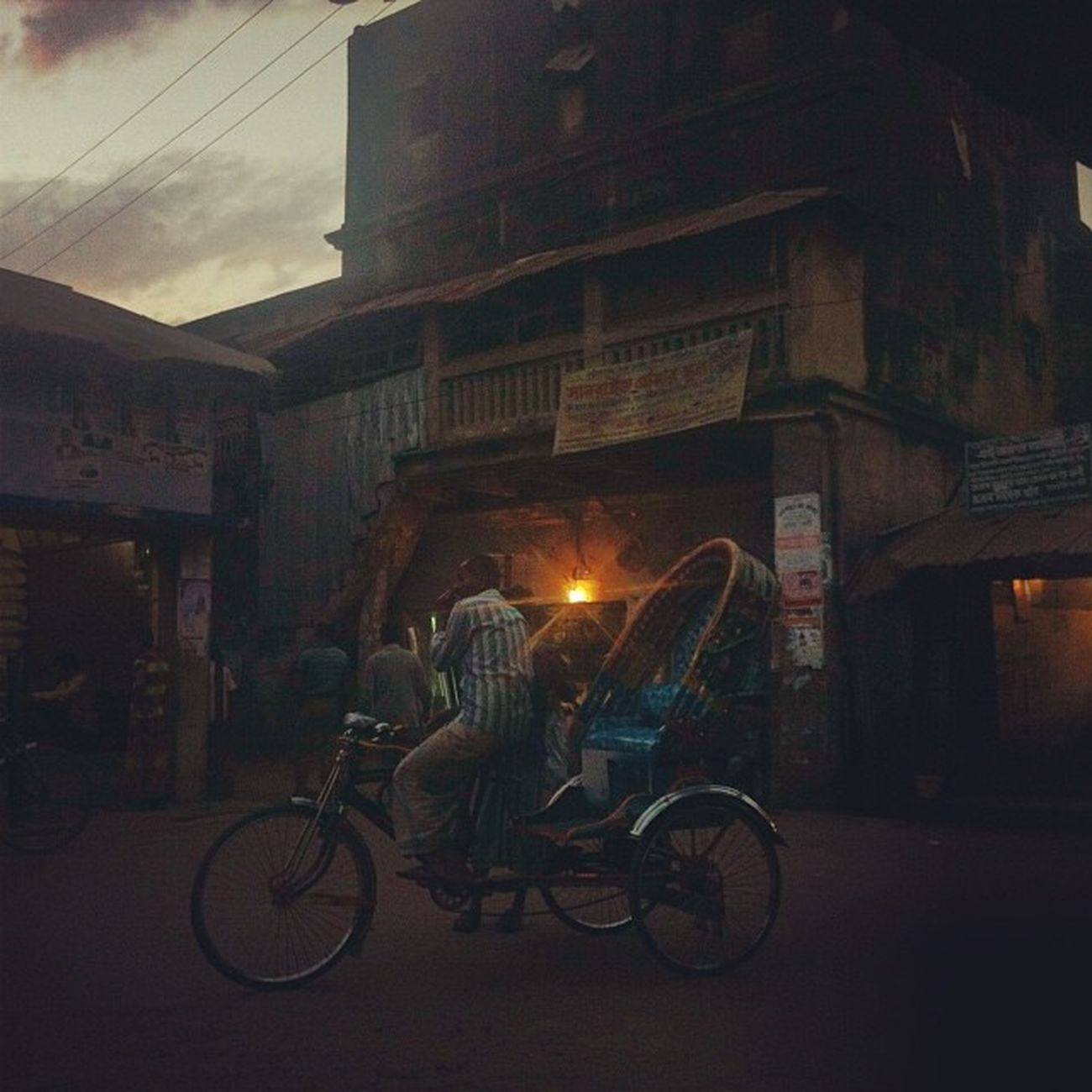 Dusk Solitude Rickshaw Daily Dark Life Street Chaktai Chittagong The Street Photographer - 2017 EyeEm Awards