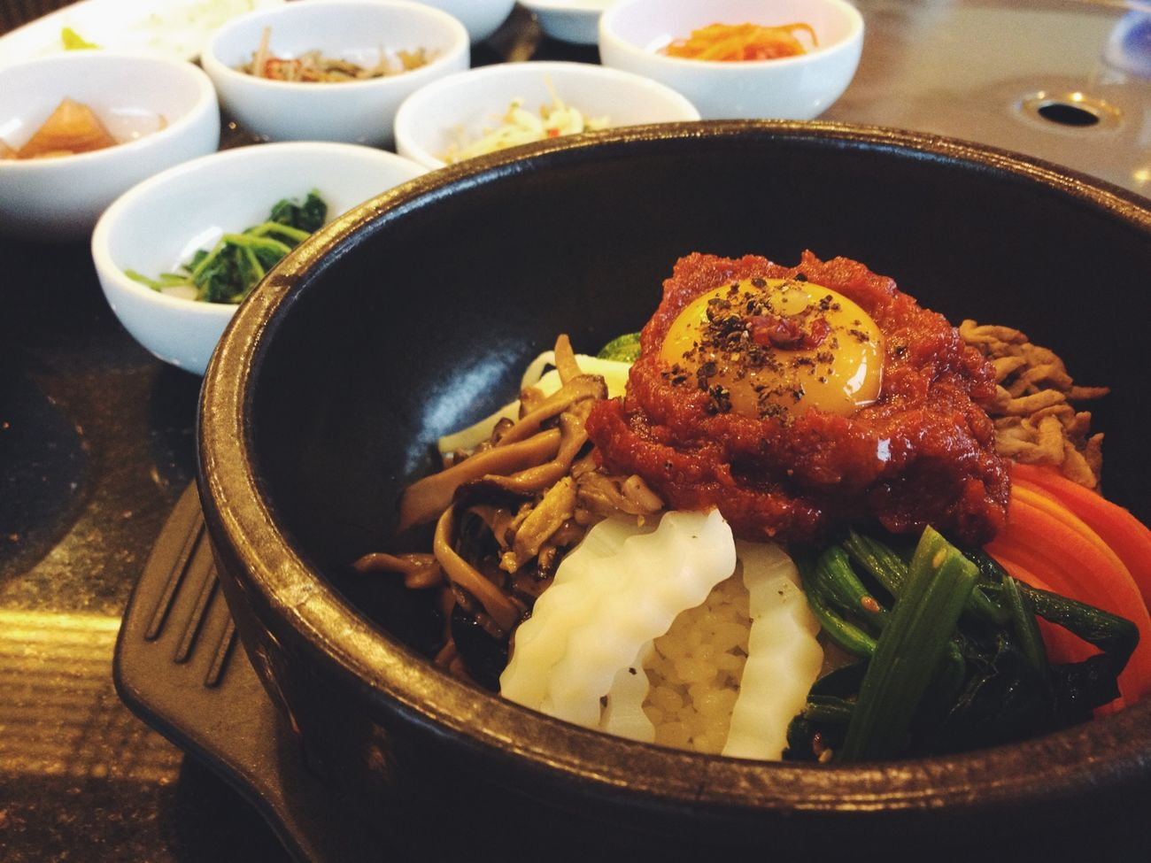 Bibimbup Korean Food Bibimbap Eating Enjoying Life