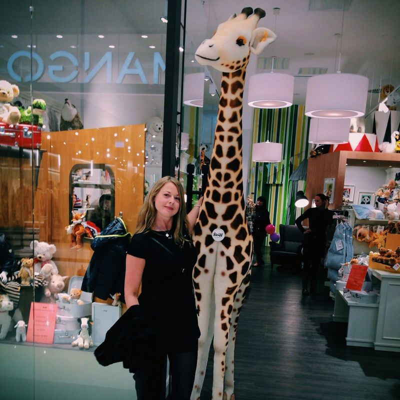 Fell in love with this huge giraffe Lp12 Stofftier 😚