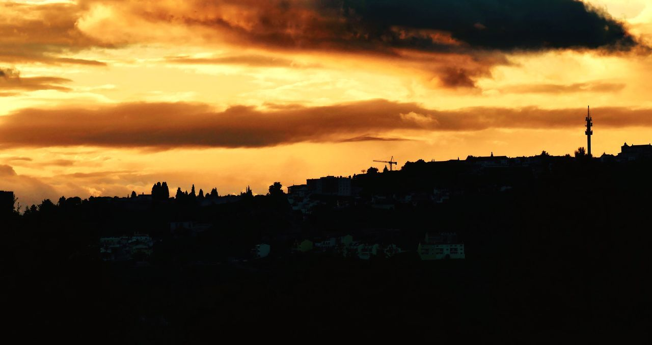 Contra luz Abrantes Cityscapes Abrantes Sunset Cloud - Sky