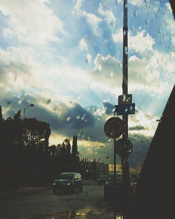 And then comes the rain ☔☁💧 Cloudy Rainy Weather Rain Sky Skyporn Street Oktober2015