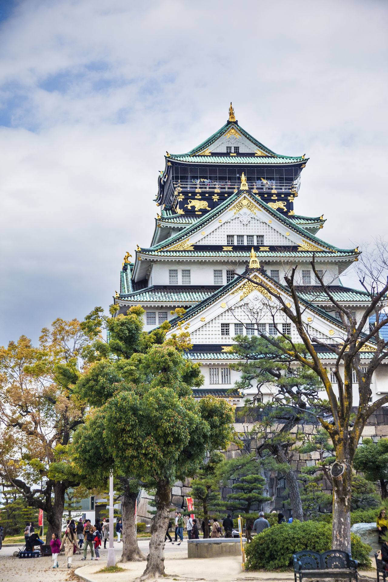 Ultimate Japan Castle Tower Famous Tourist Attractions OSAKA Osaka Castle Vertical Composition Architecture Built Structure City City Life Cloud Cloud - Sky Day Famous Place History Japan Leisure Activity Lifestyles Outdoors Relic Sky Tourism Tourist Travel Destinations Tree Ultimate Japan