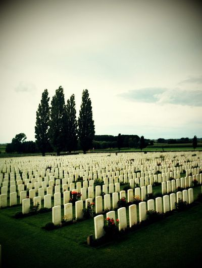 Paying My Respects Worldwar1 Cemetery