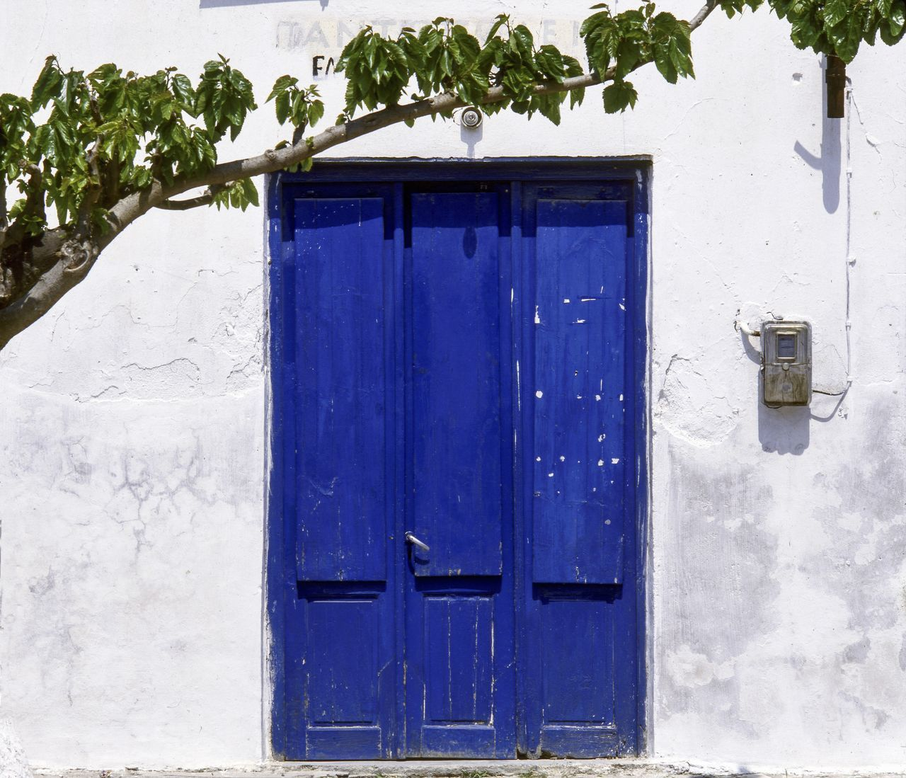 Facade, Old House, Crete, Greece Architecture Blue Blue Door Blue Doors Building Exterior Built Structure Closed Crete Greece Day Door Doorway Entrance Entrance Galatas Village Greece, Crete Greek Style Home Exterior House Facade Mediterranean  No People Outdoors The Past Traditional Travel Photography Whitewashed Walls