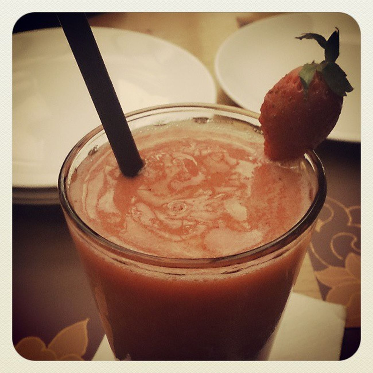A yummy drink for a hot night Strawberryjuice