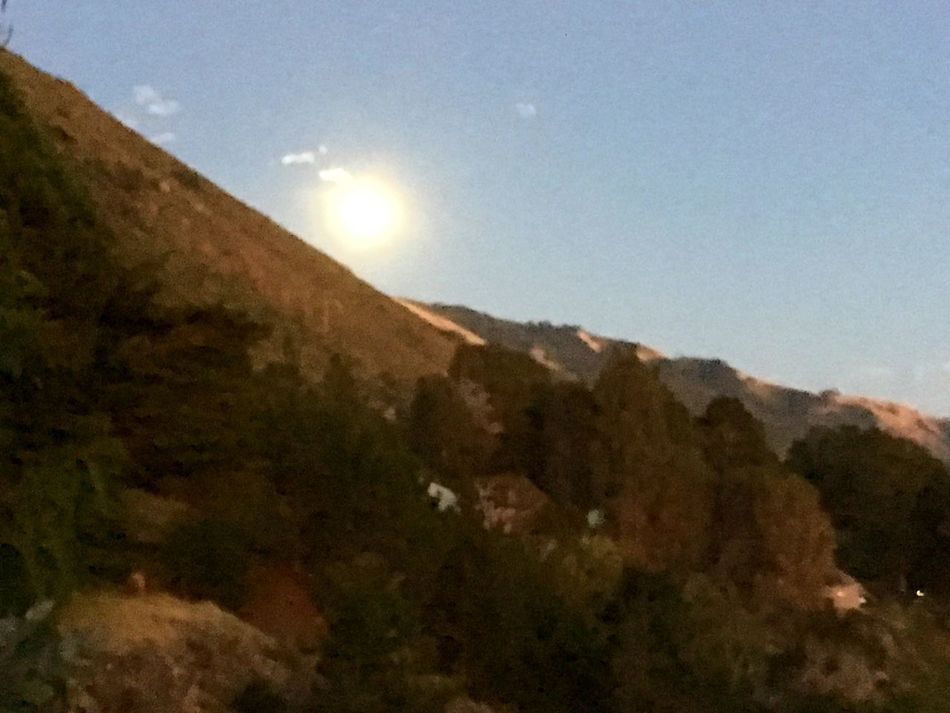 Moonrise Big Sur, Ca. Beautiful Nature The Great Outdoors Landscape Moon IPhone Photography