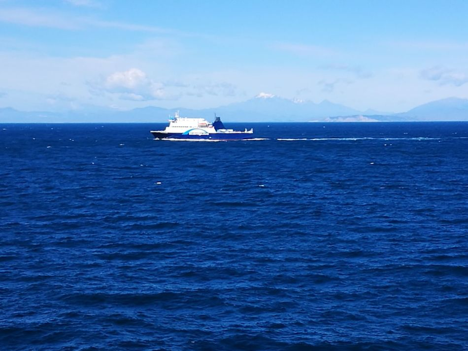 Sea Blue Sailing Ferry Picton Ferry Bluebridge First Eyeem Photo
