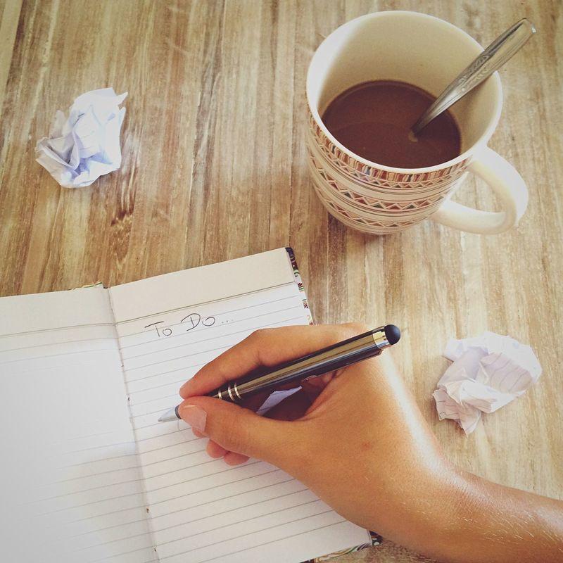 Todo List Writing Coffee Work Planning Organise Liste Arbeit EyeEm Bestsellers
