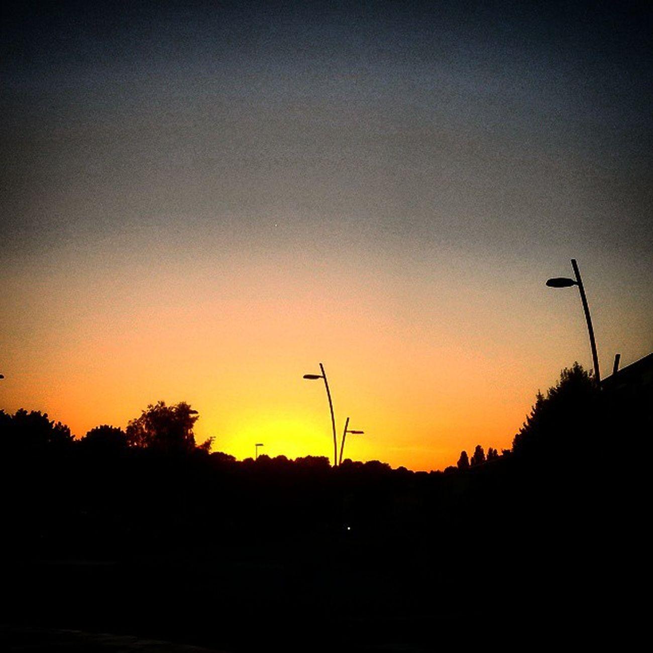 Sunset Over Lafertebernand Stop overnightholidaysbretagnesuncolourfulyelloworangeyolonice