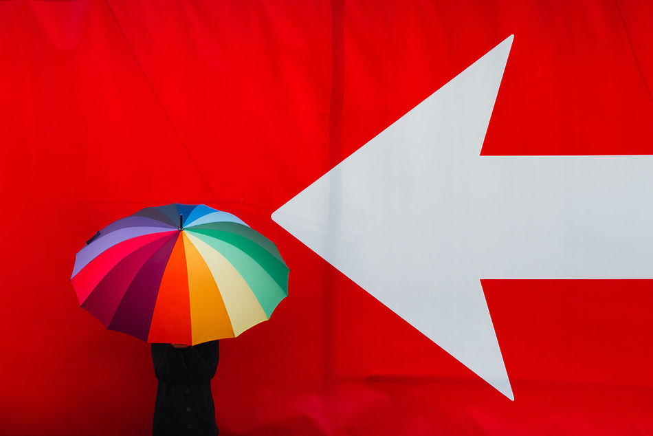 Beautiful stock photos of germany, umbrella, multi colored, red, holding