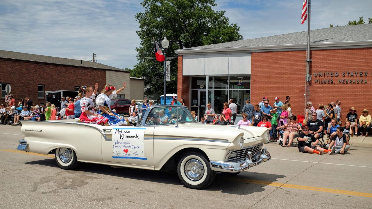 55th Annual National Czech Festival August 5, 2016 Wilber, Nebraska Americana Automobile Autoportrait Camera Work Celebrate Your Ride Celebration Event City Street Classic Car Color Photography Czech Days Czech Festival Event Lifestyles Main Street Main Street USA Midday Sunlight Nebraska Parade Parade Time Smal Town USA Small Town America Small Town Stories Vintage Cars Waving Hello Wilber, Nebraska