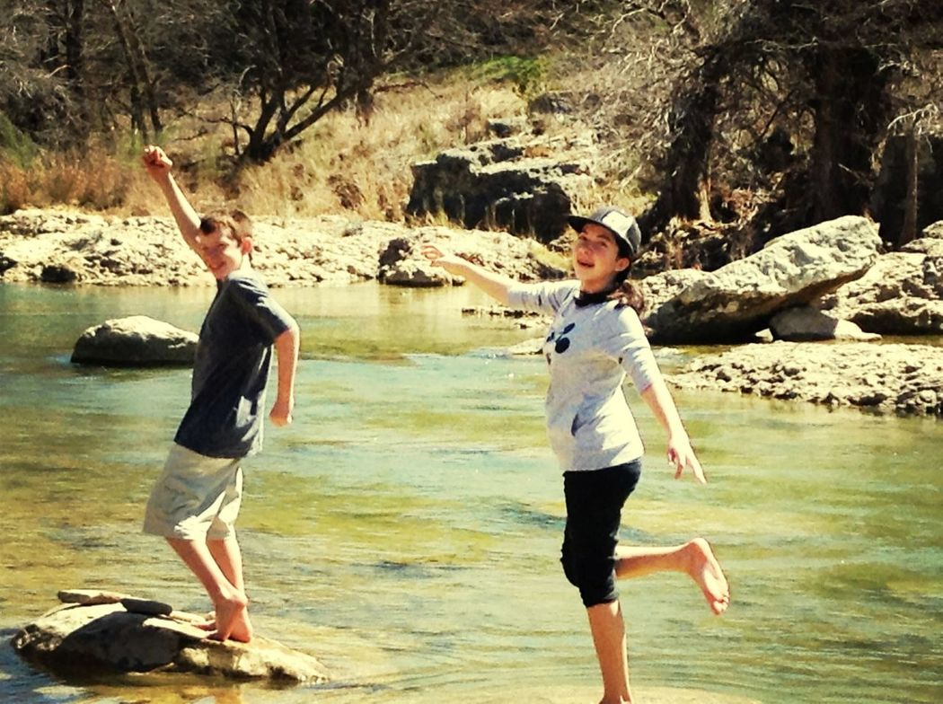Me And my nephew at A state park!(: