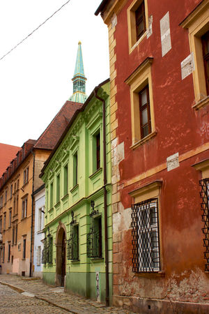 Red, Yellow, Green. Historic Home Painted Pozsony Aging Architecture Building Exterior Built Structure Central Europe Central European Classical Colorful Colorful Architecture Day Fading Historic Historic Housing Homes Medieval No People Outdoors Sky Stucco Window