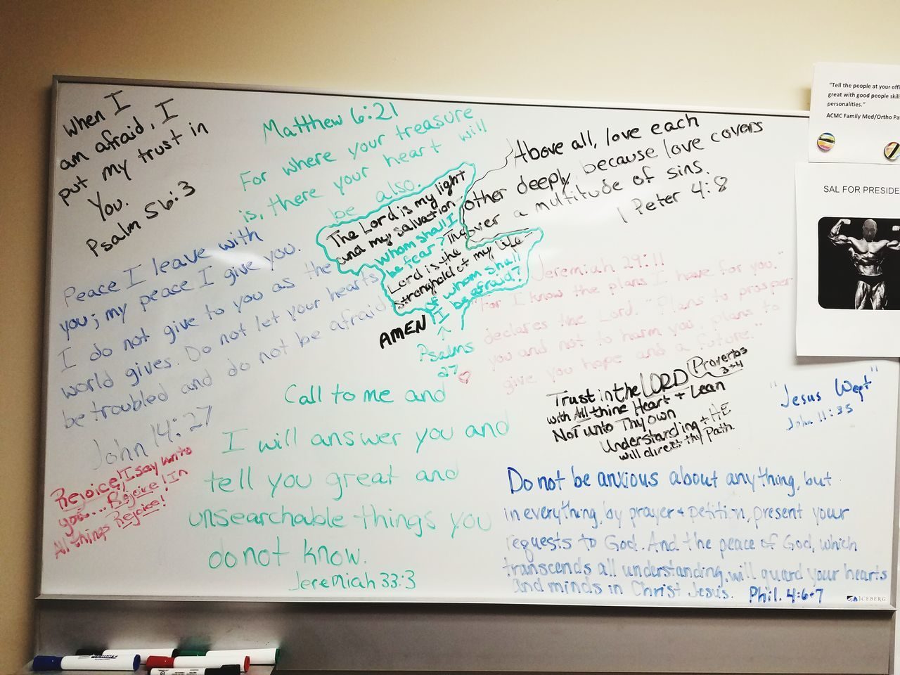 No People Dry Erase Board Scriptures I Love My Job Sometimes Hope Board Encourage Others Have Faith Hope Dream Do Not Become Weary Of Doing What's Good