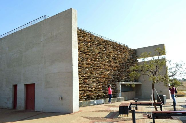 The Cradle of Human kind. The Cradle Of Human Kind... Maropeng Historical Building Qurries Rock Wall UNESCO World Heritage Site The Architect - 2016 EyeEm Awards at Sterkfontein, North of Johannesburg, South Africa.