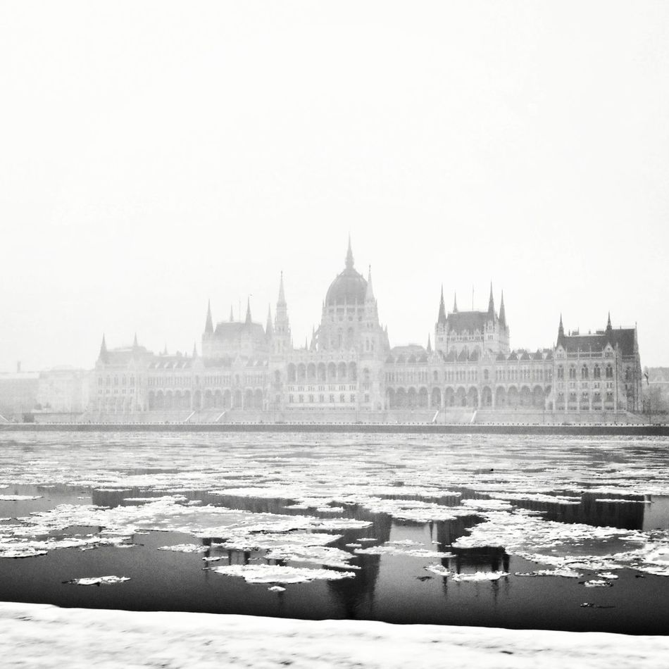 Fog Water Winter Travel Destinations City No People Adapted To The City Budapest View Budapest Wintertime Reflection Foggyweather Winter Freezingweather Freezing Cold Foggyday Travel Photography Hungarian Parliament Building Hungarian Parliament Danube Welcome To Black