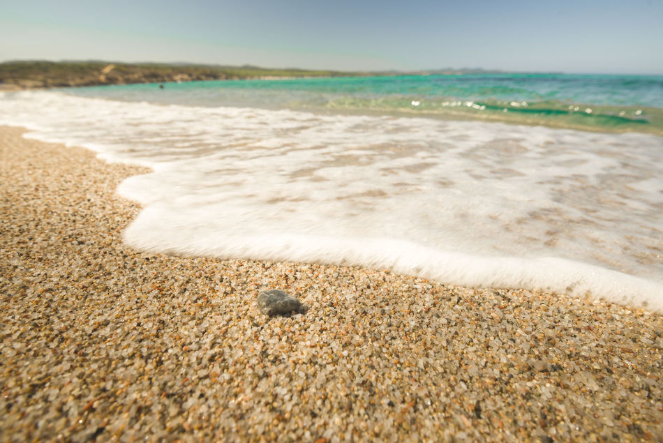 Beach Sea Sand Nature Wave Outdoors Day Sunlight Scenics Sunny Travel Destinations Summer Tranquility Beauty In Nature Water's Edge Vacations Horizon Over Water Sardegna Sardinia Italy Costa Paradiso Sunbathing Beach Day Beach Holiday Seascape rena majore