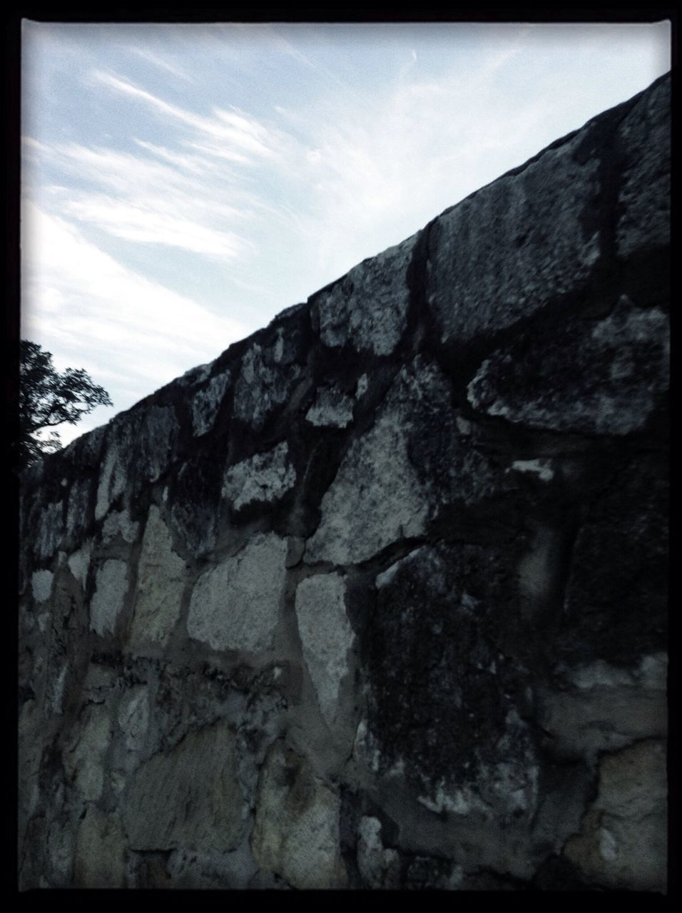 Sky Above Stone Wall