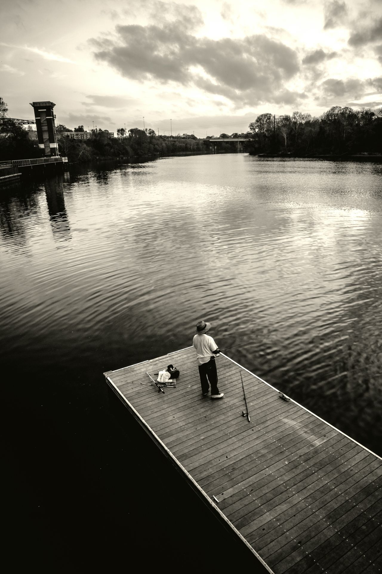 Life 2 Filter Looking Into The Future Alabama Montgomery River Portrait Of America EyeEm Best Shots - Black + White Fishing Light And Shadow Rule Of Thirds