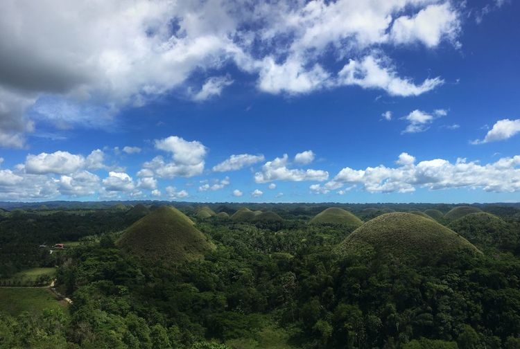 Chocolate hills Chocolate Hills Sky Nature Beauty In Nature Tranquil Scene Tranquility Cloud - Sky Mountain