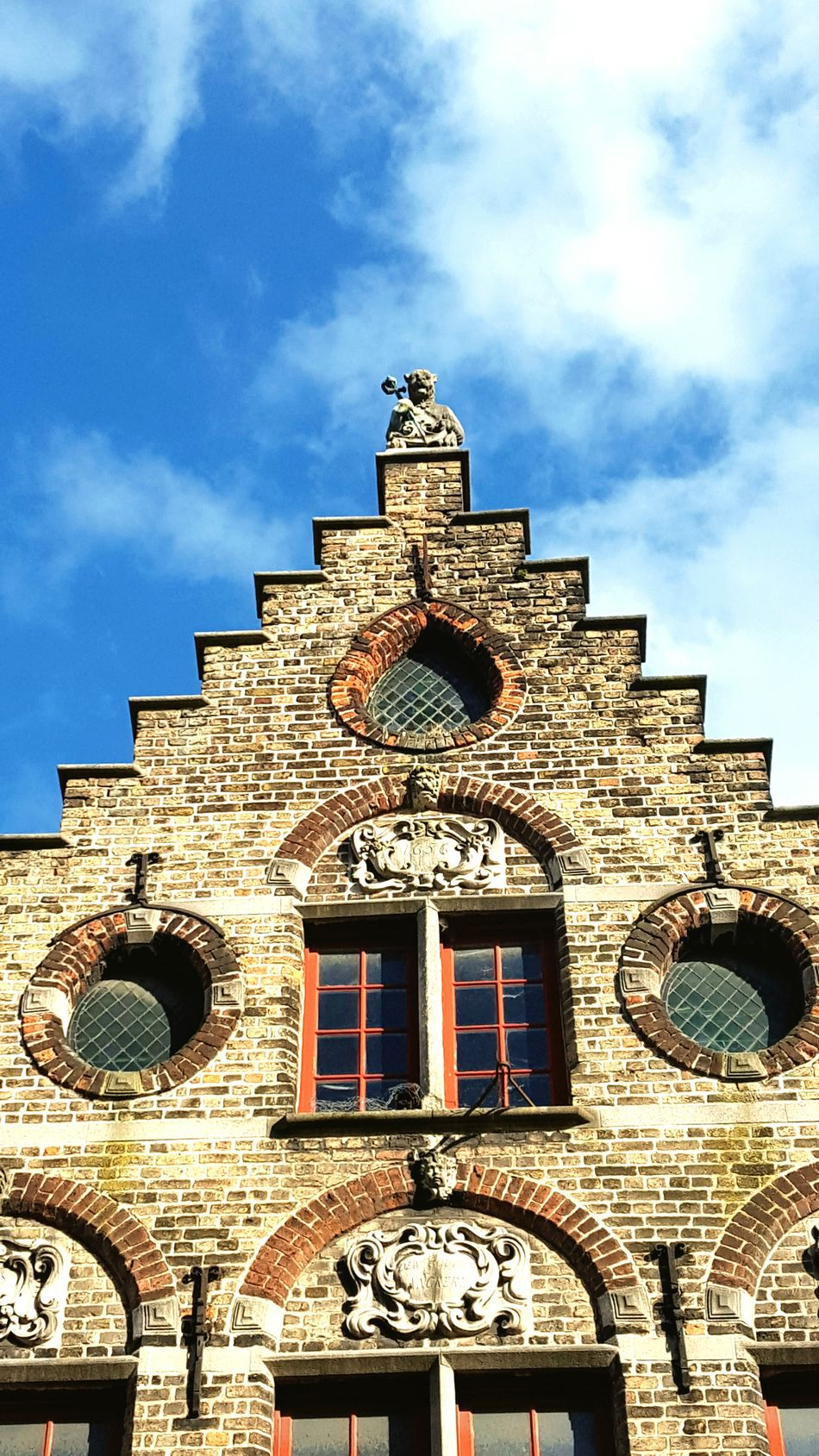 Architecture Building Exterior Sky Built Structure Religion Cloud - Sky Travel Destinations Travel Low Angle View History No People Archival Place Of Worship Day Outdoors Flandres  Flanders Travel Destination Brugge Bruges Architecture Cityscape Old Town Tourism Clear Sky