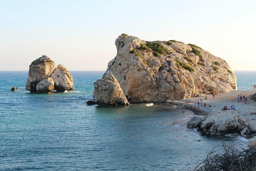 Afrodite Born Place Rock Cyprus Landscape