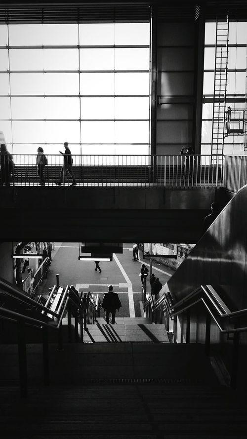 Evening Sun Black And White Urban Geometry Architecture_bw Berlin Ostkreuz People Photography