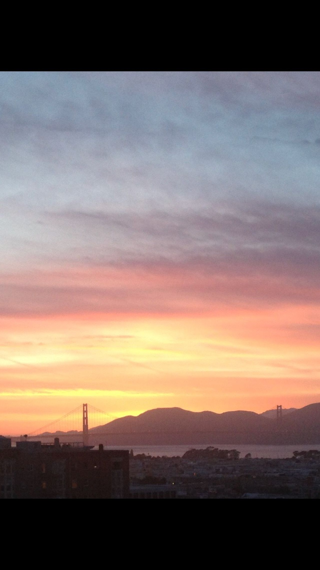 The City Light Golden Gate Bridge Sunset Sky Built Structure Silhouette Cloud - Sky No People Building Exterior Architecture Nature Beauty In Nature Outdoors Scenics Day San Francisco EyeEmNewHere