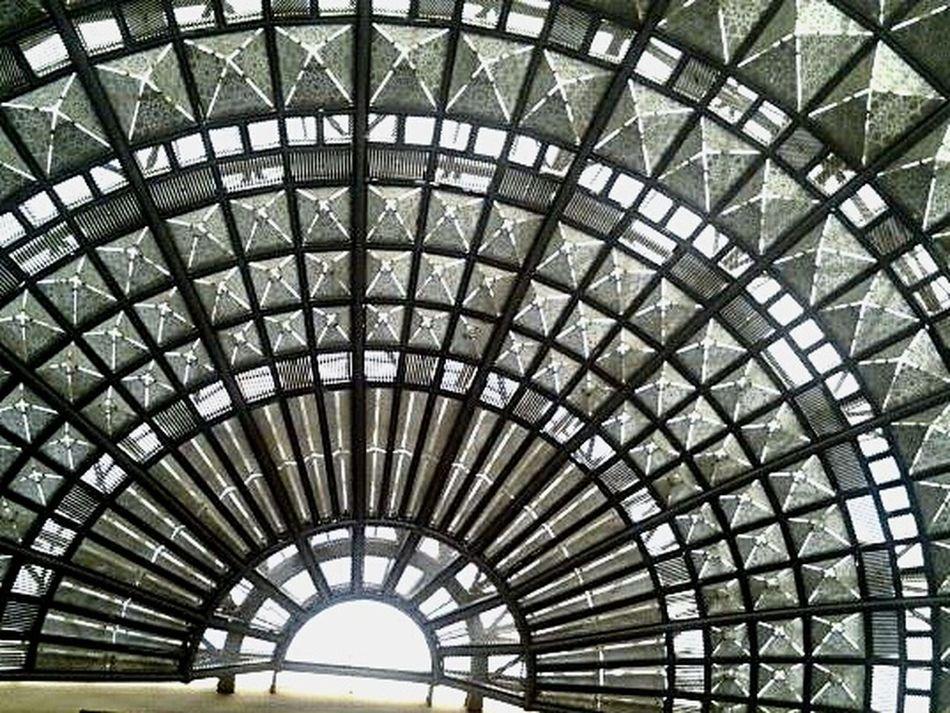 Union Station Surfliner Amtrak To LA Losangeles Unionstationla Dome Ceiling Decorative Structure Glassart Glass Roof Intricatedesign The Week Of Eyeem This Week On Eyeem