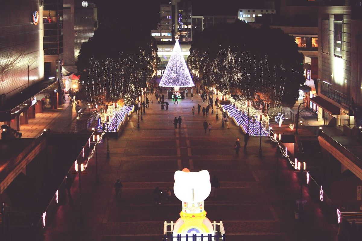 Illuminated Night Christmas Christmas Decoration City No People Architecture