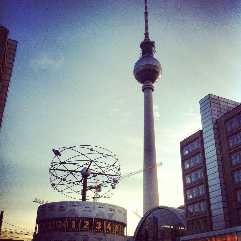 Symbol of Berlin Alexanderplatz Architecture Berlin Communication Fernsehturm Berlin  Germany Global Communications Mitte Skyscraper Tourism Tower Capture Berlin