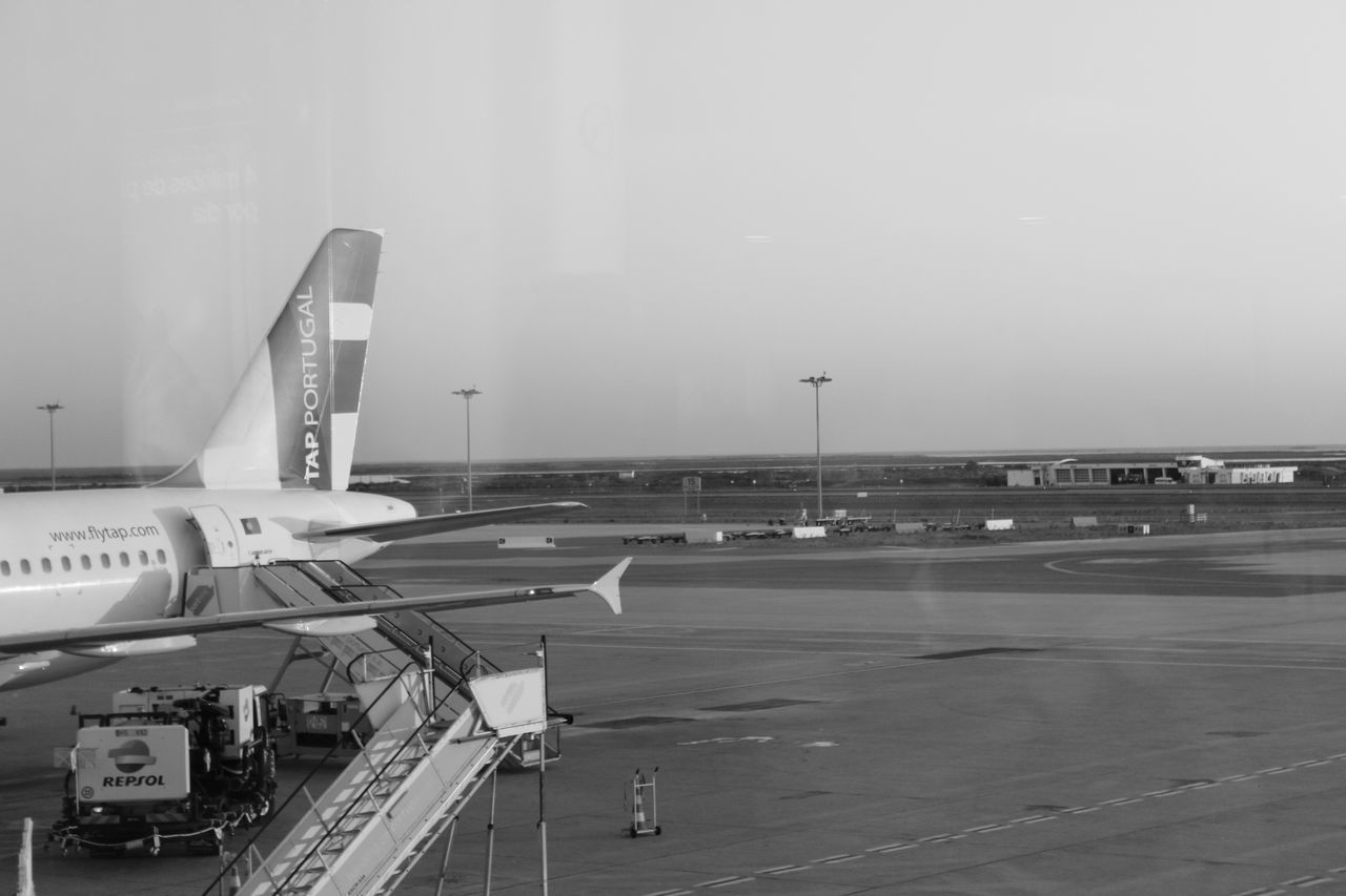 Airplane Airport Black And White Europe Moving People Portugal Travel