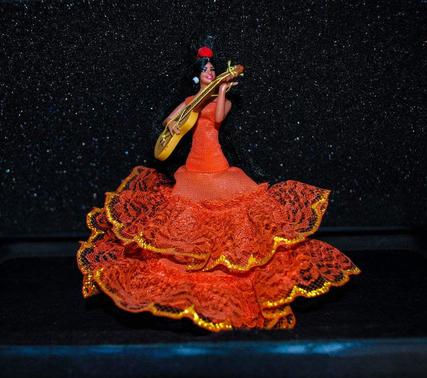 Ballerina Bambola Black Wall Costume Creativity Doll Flamenco_dancers Foto Nikon Ninofogliani58 No People Object Sfondo Nero Spagnola Studio