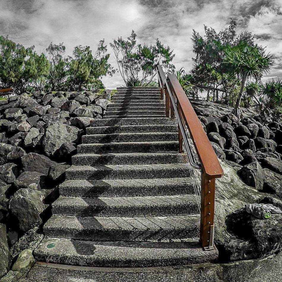 Bleak day on the Gold Coast Clouds And Sky Australia Queensland Goprohero4 Gold Coast Trees Selective Color Stairs
