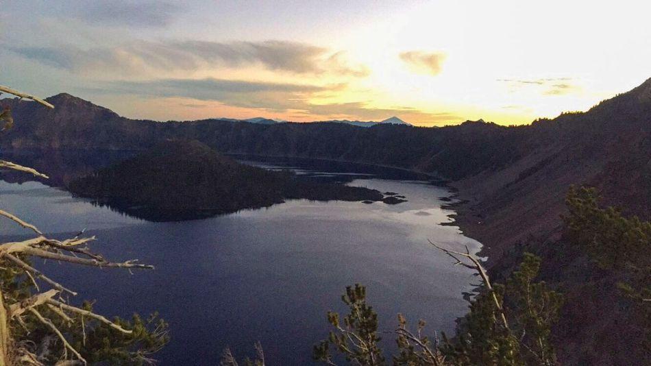 Missing it Monday. Sunset Crater Lake National Park Oregon PhonePhotography Iphonephotography