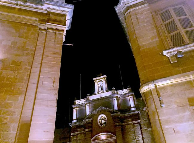 Architecture Building Building Exterior Built Structure Church At Night  City Illuminated Low Angle View No People