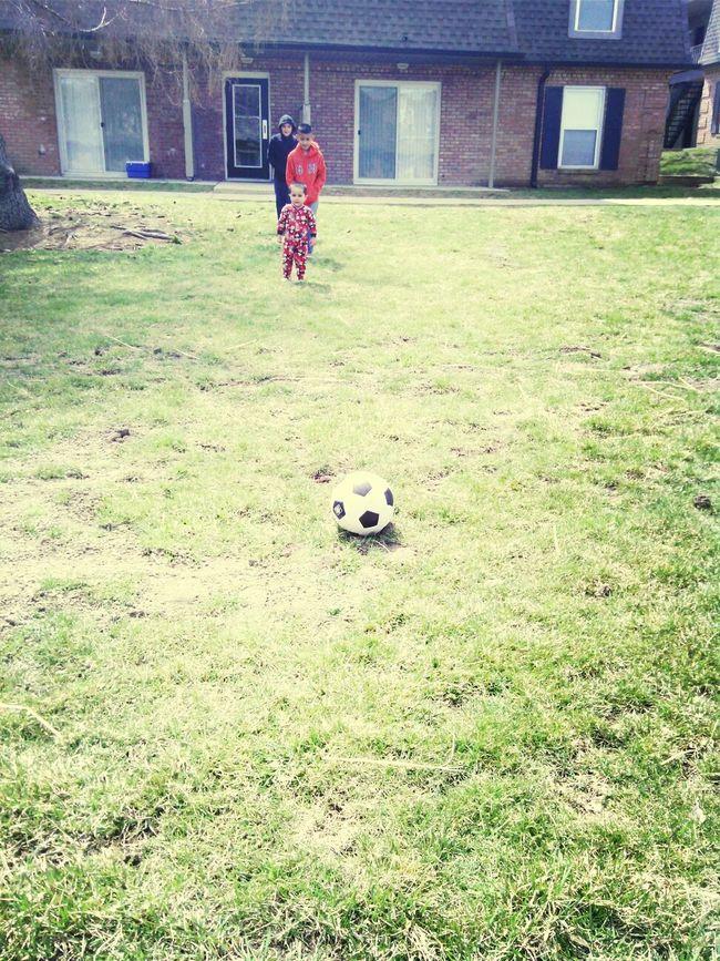 Soccer W/ The Little Kids {{: