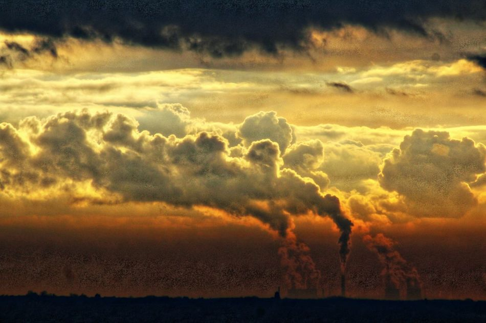 Clouds And Smoke Sunset No People Beauty In Nature Scenics Nature Cloud - Sky Outdoors Landscape Storm Cloud Sky Day Cloudscape Orange Color Beauty In Nature Dramatic Sky Sunset Today Sunlight