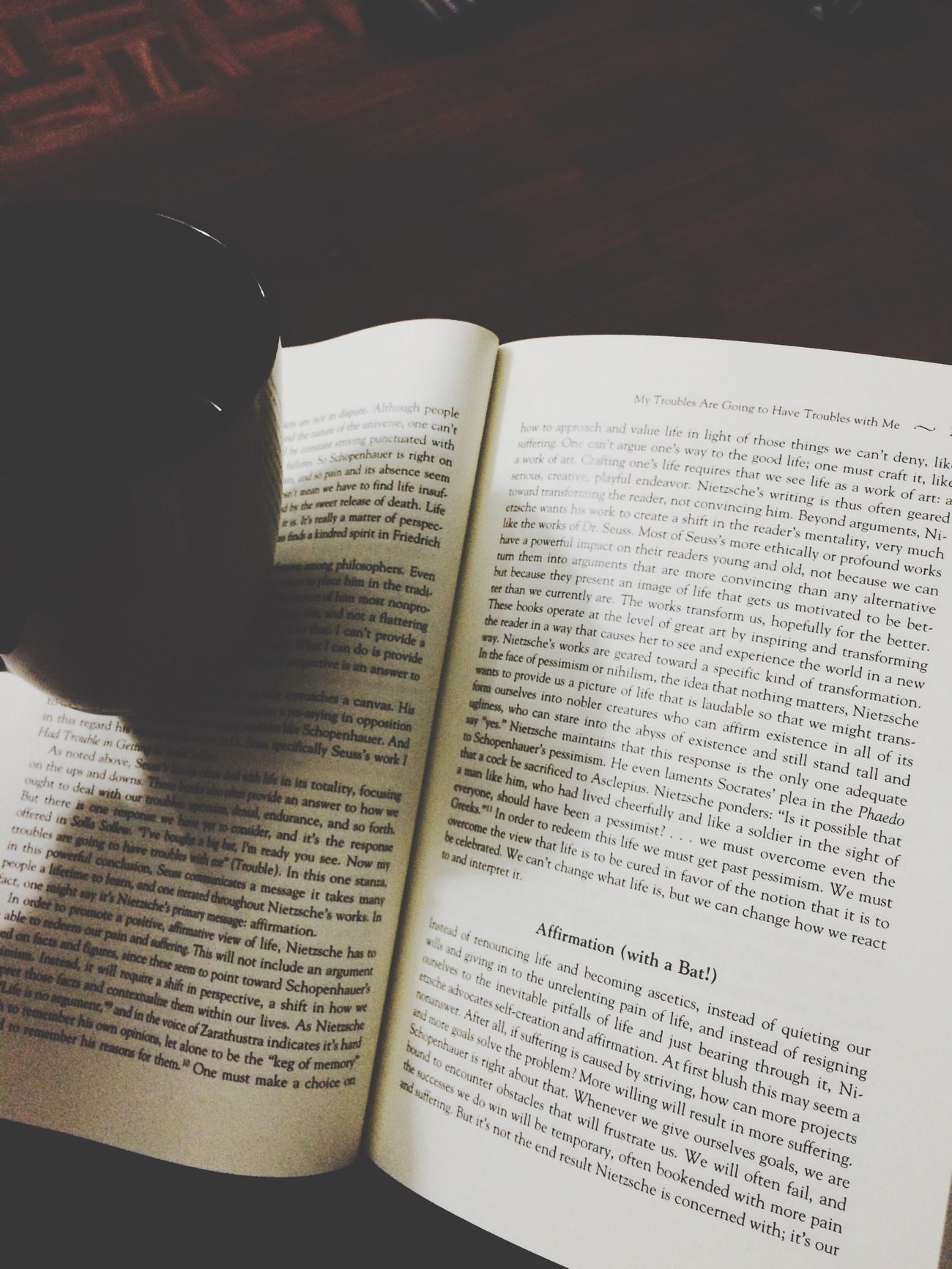 Coffee and some philosophy Relaxing