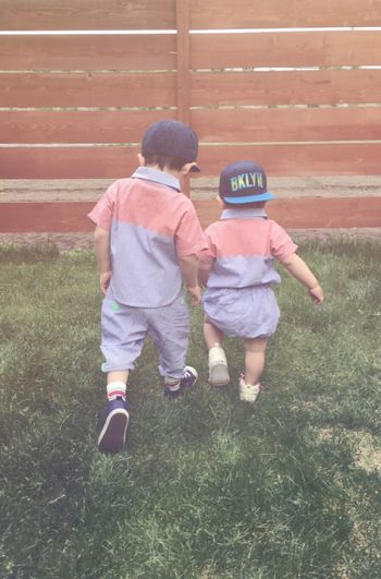 Kids Brother Boys Backstyle Cute