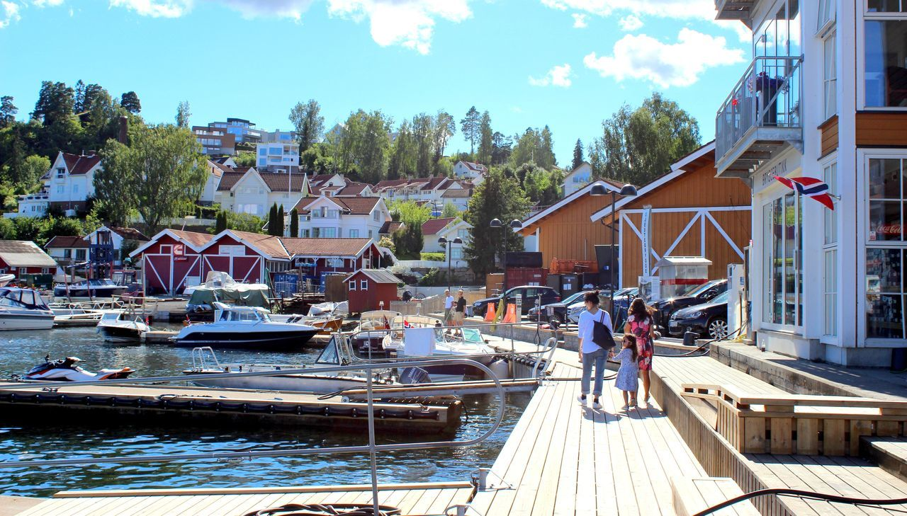 Norway Travel Destinations Built Structure Harbour Front Harbor View People Outdoors Water Seaside Sea Life Day Cityscapes EyeEm Gallery The Street Photographer - 2017 EyeEm Awards