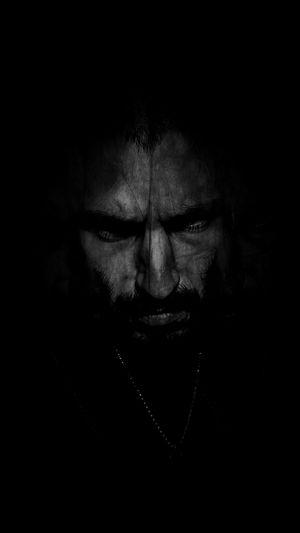 Dark Portrait Black And White Evil Face