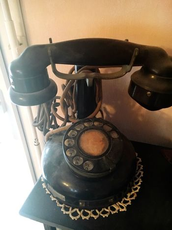 Telephone Old School Ancien Combine Allo Noir