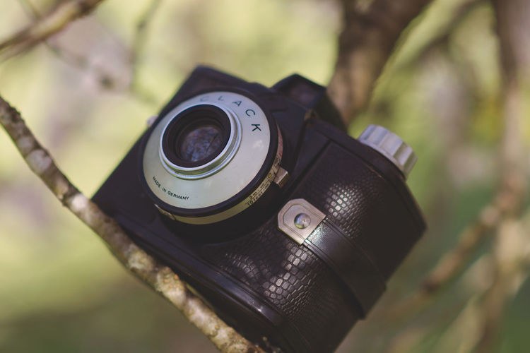 1950s Camera Camera - Photographic Equipment Old-fashioned Close-up Day Digital Camera Digital Single-lens Reflex Camera Focus On Foreground Outdoors Photographing Photography Themes Retro Styled SLR Camera Technology Vintage