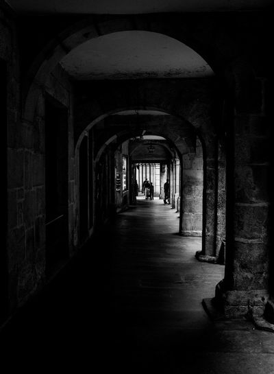 Old Town Arch Architecture Blackandwhite Corridor Monochrome Old Buildings Rock Structure Soportales The Way Forward The Week On EyeEm Black And White Friday