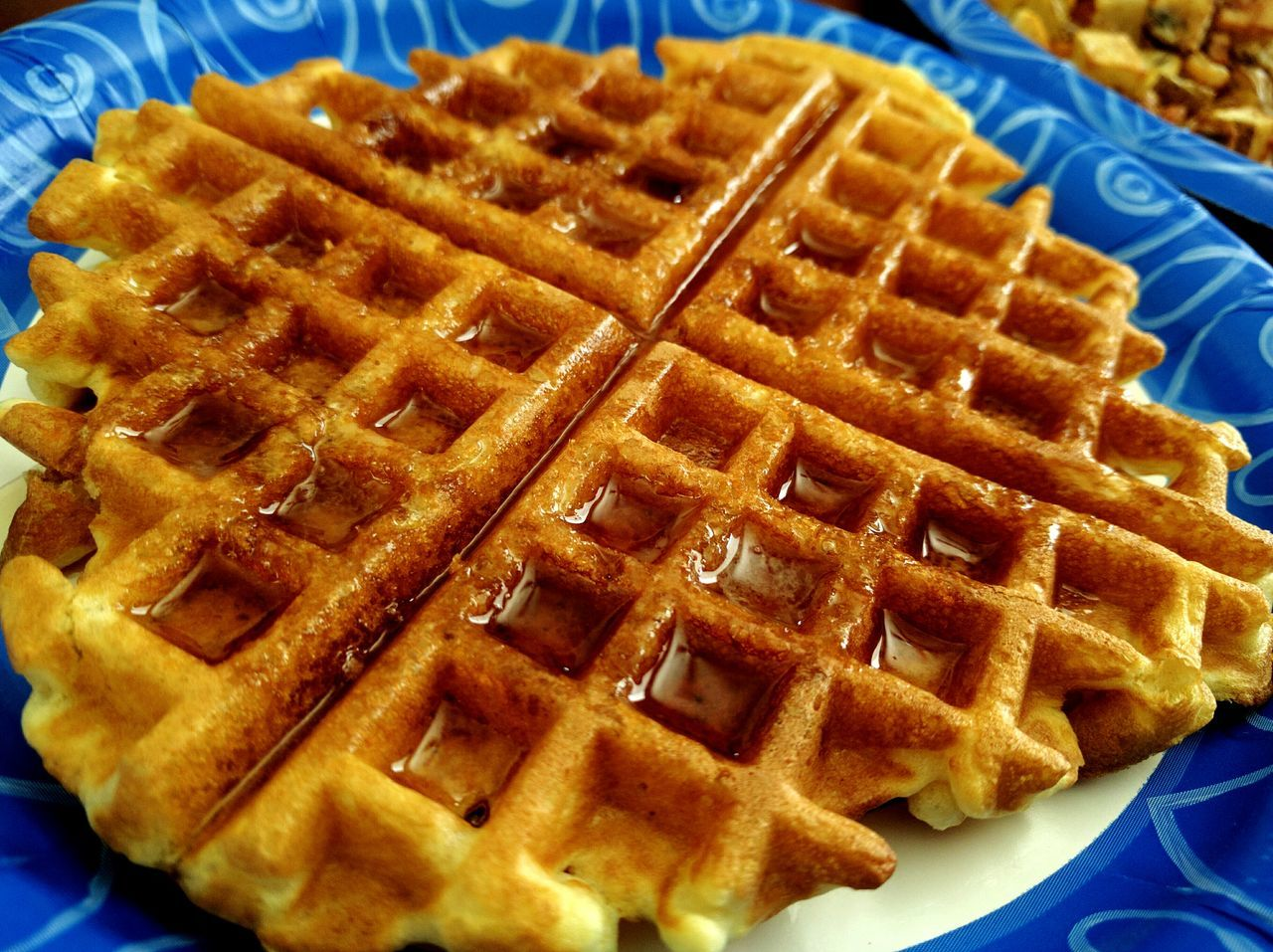 this made me smile this morning Taking Photos Mobile Photography Waffle Time Waffles!! Made With Love Made For Me Brunch EyeEm Gallery No People Let's Do It Chic!43 Golden Moments Textures And Surfaces Check This Out Popular Photos Eyeemphotography PaperPlateLife In My Mouf Yummy ♥