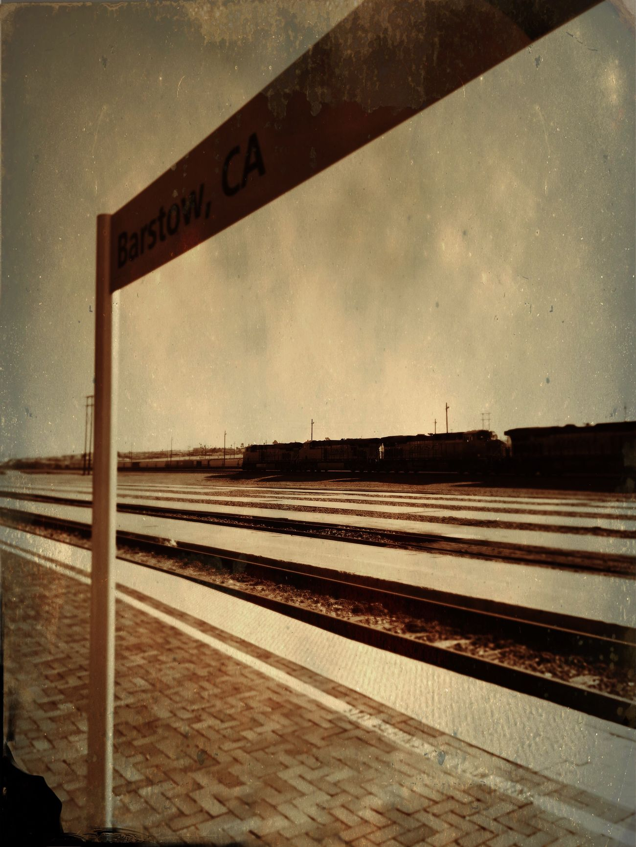 Traveling Barstow Barstow, Ca Railroad Station Railroad Station Platform Transportation Rail Transportation Railroad Track Travel Destinations Train Museum Trainphotography Train Train Tracks Train Station Sepiatone Sepia Photography Sepia_collection Sepia Train Cars